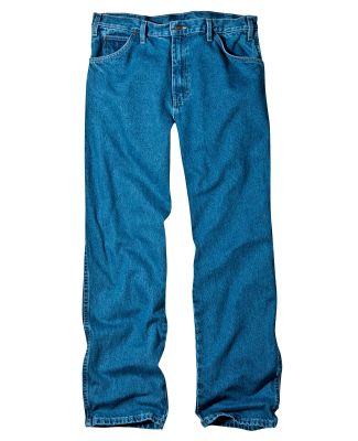 Dickies Workwear 13293 Unisex Relaxed Straight Fit 5-Pocket Denim Jean Pant