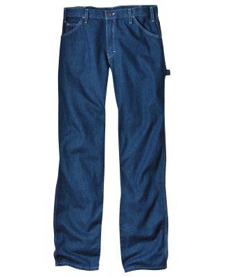 Dickies Workwear 19294 Unisex Relaxed Fit Stonewashed Carpenter Denim Jean Pant