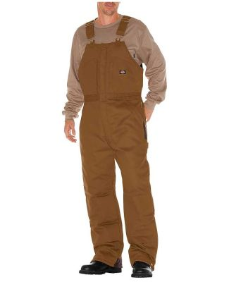 Dickies Workwear TB839 Unisex Duck Insulated Bib Overall BROWN DUCK _S