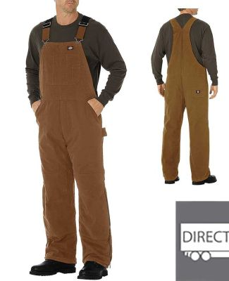 Dickies Workwear TB244 Unisex Sanded Duck Insulated Bib Overall