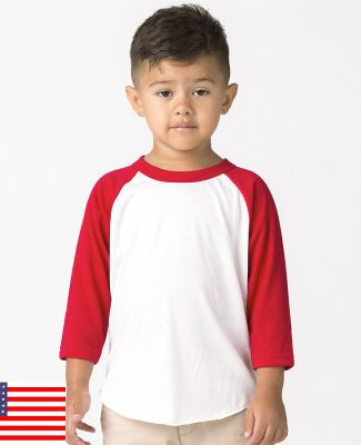 Los Angeles Apparel FF1053 / Kids Raglan