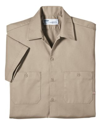 Dickies Workwear LS307 6 oz. Industrial Short-Sleeve Cotton Work Shirt
