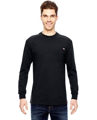 WL450 Dickies 6.75 oz. Heavyweight Work Long-Sleeve T-Shirt BLACK