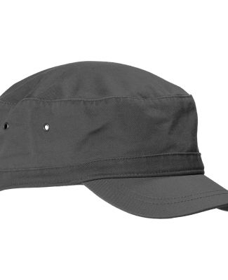 BA501 Big Accessories Short Bill Cadet Cap CHARCOAL