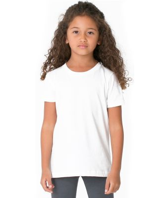 American Apparel BB101W Toddler Poly-Cotton Short-Sleeve Crewneck White