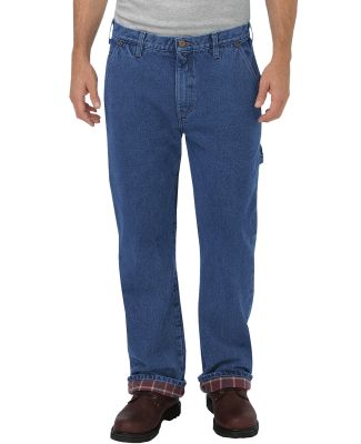 Dickies Workwear DU227 Men's Relaxed Fit Straight-Leg Flannel-Lined Carpenter Denim Pant SW IND BLUE _30