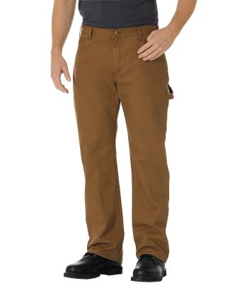Dickies Workwear DU250 Men's Relaxed Fit Straight-Leg Carpenter Duck Pant RNS BRWN DCK _30