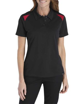 Dickies Workwear FS606 Ladies' Performance Shop Polo BLACK/ ENG RED