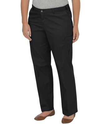 Dickies Workwear FPW2372 Ladies' Premium Relaxed Plus-Size Straight Cargo Pant BLACK