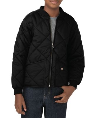 Dickies Workwear KJ242 Youth Quilted Nylon Jacket BLACK