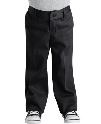 Dickies KP3318 Girl's  Classic Fit Straight-Leg Twill Stretch Pant BLACK