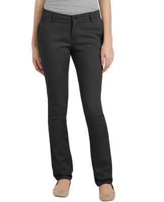 Dickies Workwear KP5518 Girl's FlexWaist Classic Fit Straight-Leg Twill Stretch Pant BLACK