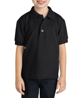 Dickies Workwear KS3552 Youth  Short-Sleeve Pique Polo BLACK