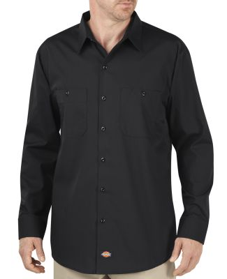 Dickies Workwear LL516T Unisex Tall Industrial WorkTech Long-Sleeve Ventilated Performance Shirt BLACK