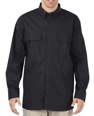Dickies Workwear LL953T Unisex Tall Tactical Ventilated Ripstop Long-Sleeve Shirt BLACK