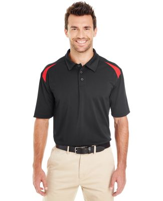 Dickies Workwear LS606 Men's 6 oz. Performance Team Polo BLACK/ ENG RED