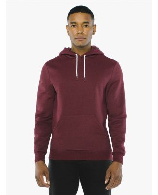 American Apparel MT498W Unisex Salt And Pepper Pullover Hooded Sweatshirt Peppered Cranberry