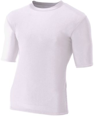 N3283 A4 Adult Compression Tee WHITE