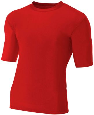 N3283 A4 Adult Compression Tee SCARLET