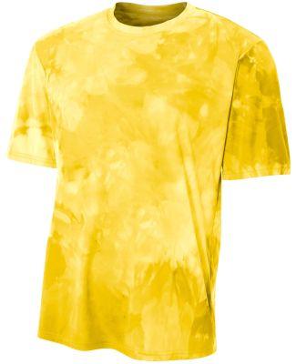 N3295 A4 Drop Ship Men's Cloud Dye T-Shirt GOLD