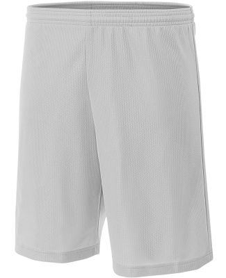 NB5184 A4 6 Inch Youth Lined Micromesh Shorts SILVER