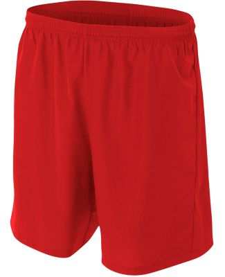 NB5343 A4 Drop Ship Youth Woven Soccer Shorts SCARLET