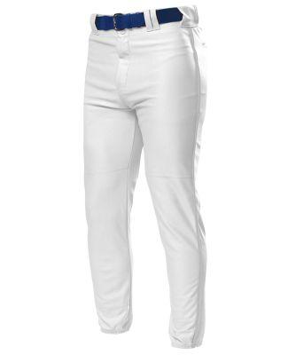 NB6178 A4 Youth Pro Style Elastic Bottom Baseball Pant WHITE