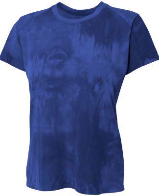NW3295 A4 Drop Ship Ladies' Cloud Dye Tech T-Shirt NAVY
