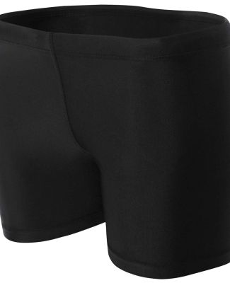 """NW5313 A4 Women's 4"""" Compression Short BLACK"""