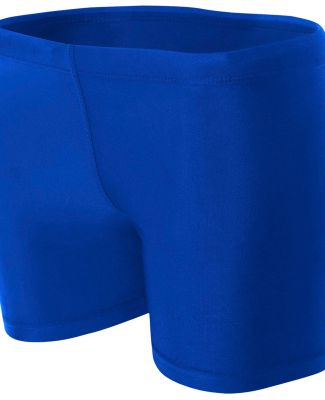 "NW5313 A4 Women's 4"" Compression Short ROYAL"