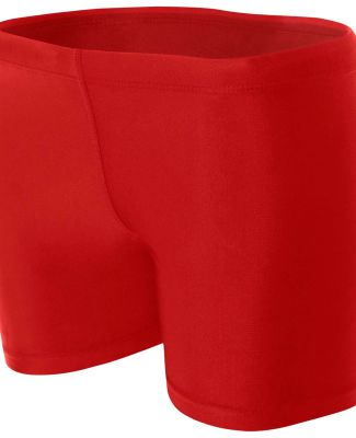 "NW5313 A4 Women's 4"" Compression Short SCARLET"