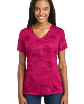LST370 Sport-Tek® Ladies CamoHex V-Neck Tee Catalog