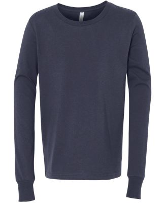 BELLA+CANVAS 3501Y Youth Long-Sleeve T-Shirt NAVY