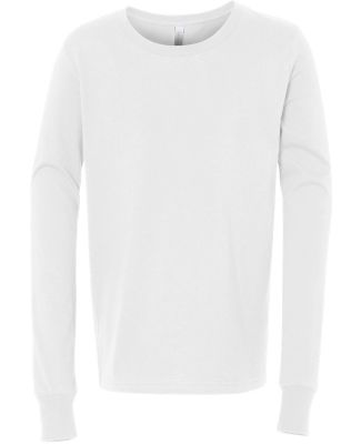 BELLA+CANVAS 3501Y Youth Long-Sleeve T-Shirt WHITE