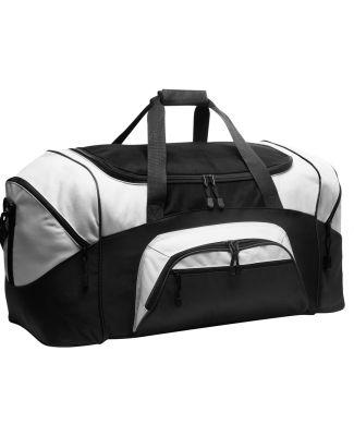 BG99 Port & Company® - Colorblock Sport Duffel Black/Grey