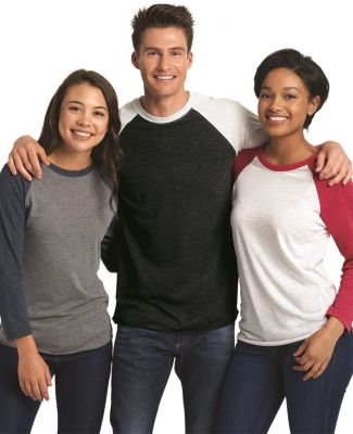 Next Level 6051 Unisex Tri-Blend 3/4 Sleeve Raglan Catalog