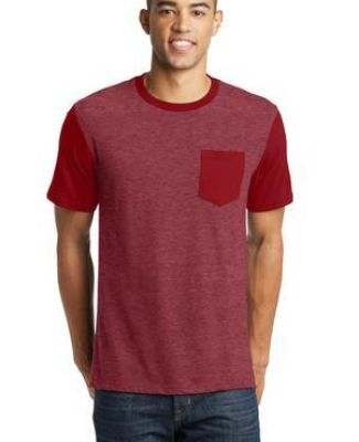 DT6000SP District® Young Mens Very Important Tee® with Contrast Sleeves and Pocket Catalog