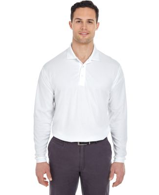 8210LS UltraClub® Adult Cool & Dry Long-Sleeve Me WHITE