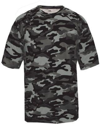 2181 Badger - Youth Camo Short Sleeve T-Shirt Black