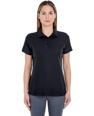8560L UltraClub Ladies' Basic Blended Piqué Polo Black