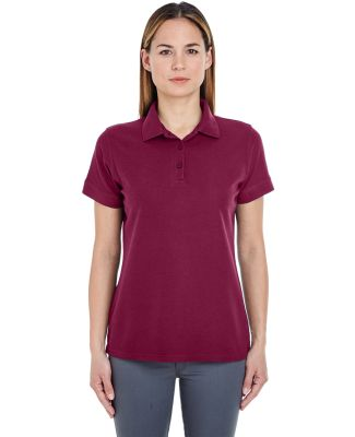 8560L UltraClub Ladies' Basic Blended Piqué Polo Maroon