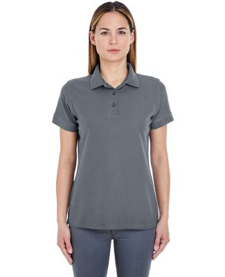 8560L UltraClub Ladies' Basic Blended Piqué Polo Charcoal