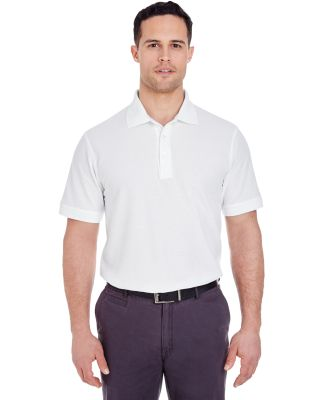 8560 UltraClub Men's Basic Blended Piqué Polo WHITE