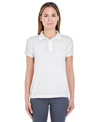 8255L UltraClub® Ladies' Cool & Dry Jacquard Per White