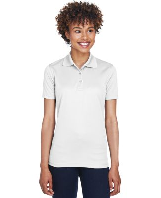8210L UltraClub® Ladies' Cool & Dry Mesh Piqué P WHITE