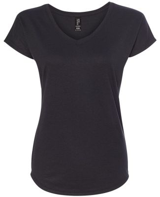 6750VL Anvil - Ladies' Triblend V-Neck T-Shirt  Black