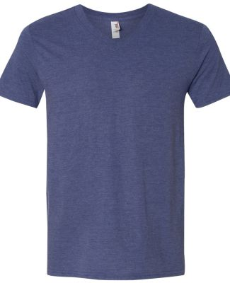 6752 Anvil  Triblend V-Neck T-Shirt Heather Blue