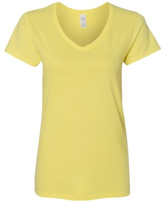 5V00L Gildan Heavy Cotton™ Ladies' V-Neck T-Shir CORNSILK