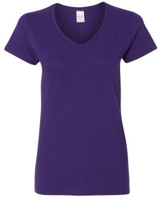 5V00L Gildan Heavy Cotton™ Ladies' V-Neck T-Shir PURPLE