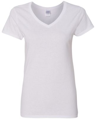 5V00L Gildan Heavy Cotton™ Ladies' V-Neck T-Shir WHITE
